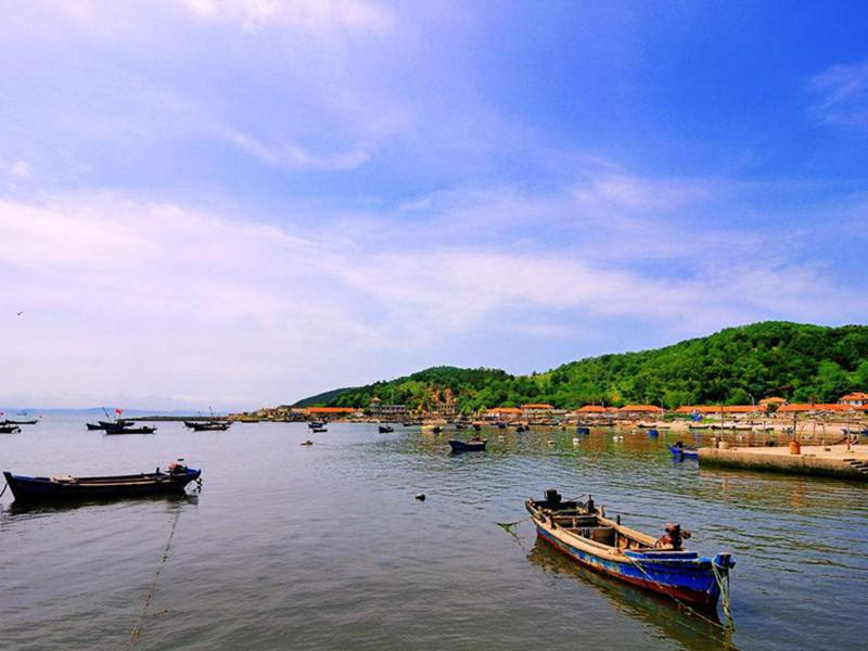 长岛渔船风景图
